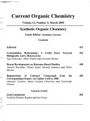 Current Organic Chemistry Book