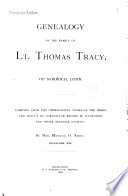 Genealogy of the Family of Lt. Thomas Tracy, of Norwich, Connecticut