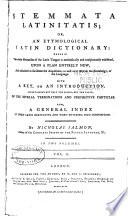 Stemmata Latinitatis Book