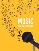 Wide Staff Music Manuscript Paper