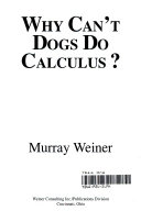 Why Can t Dogs Do Calculus  Book