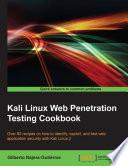 Kali Linux Web Penetration Testing Cookbook Book
