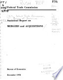F T C Statistical Report On Mergers And Acquisitions