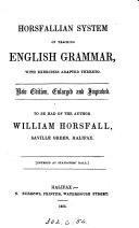 Horsfallian system of teaching English grammar