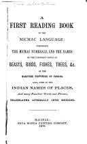 A First Reading Book in the Micmac Language