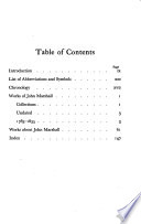 A Bibliography of John Marshall