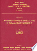 Analysis and Fate of Surfactants in the Aquatic Environment Book