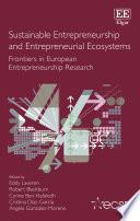 Sustainable Entrepreneurship and Entrepreneurial Ecosystems