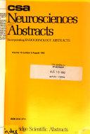 Csa Neurosciences Abstracts Book PDF