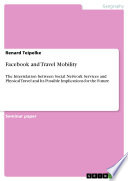 Facebook and Travel Mobility