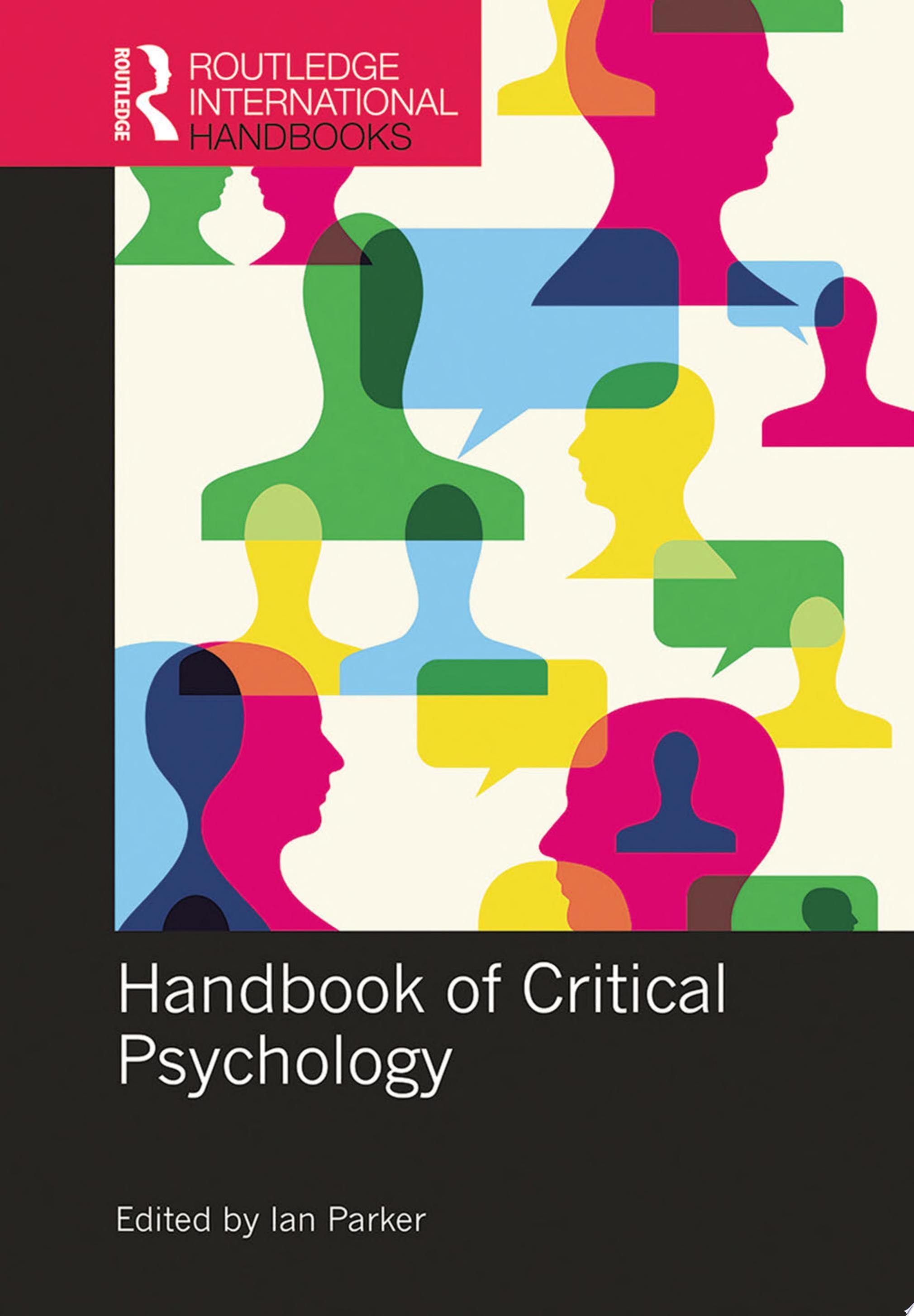 Handbook of Critical Psychology