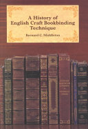 A History of English Craft Bookbinding Technique