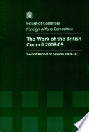 The Work Of The British Council 2008 09