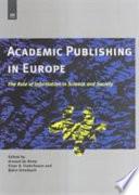 Academic Publishing in Europe
