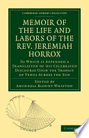 Memoir of the Life and Labors of the Rev  Jeremiah Horrox