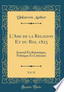 L'Ami de la Religion Et du Roi, 1823, Vol. 35