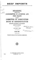 Hearings Before the Committee on Agriculture  House of Representatives  Eighty eighth Congress
