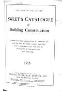 Sweet s Catalogue of Building Construction