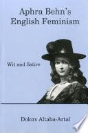 Aphra Behn s English Feminism Book