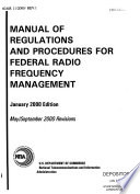 Manual of Regulations and Procedures for Federal Radio Frequency Management