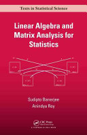Linear Algebra and Matrix Analysis for Statistics