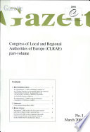 Gazette Congress of Local and Regional Authorities of Europe March 2000  No  I 2000