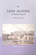 Jane Austen  A Family Record