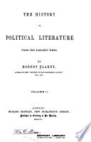 The History of Political Literature from the Earliest Times