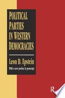 Political Parties in Western Democracies by Leon D. Epstein PDF