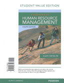 Fundamentals of Human Resource Management  Student Value Edition Plus Mymanagementlab with Pearson Etext    Access Card Package