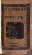 Nouveau manuel du capitaliste, ou l'on trouve 1 des notions générales sur les questions qui intéressent la banque ...