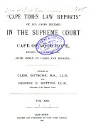 Cape Times Law Reports
