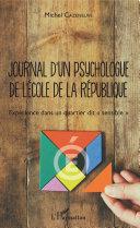 Pdf Journal d'un psychologue de l'École de la République Telecharger