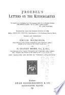 Froebel's Letters on the Kindergarten by Friedrich Fröbel PDF