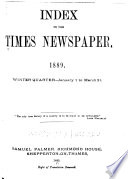 Palmer s Index to the Times Newspaper Book