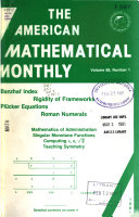 The American Mathematical Monthly Book