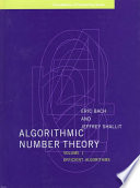 Algorithmic Number Theory Efficient Algorithms