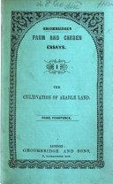G  s Farm and Garden Essays  No  1 8