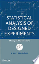 Statistical Analysis of Designed Experiments Book