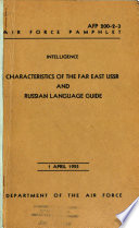 Characteristics of the Far East USSR and Russian language guide, 1 Apr., 1955