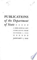 Publication of the Department of State