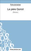 Pdf Le père Goriot de Balzac (Fiche de lecture) Telecharger