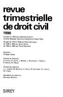 Revue trimestrielle de droit civil