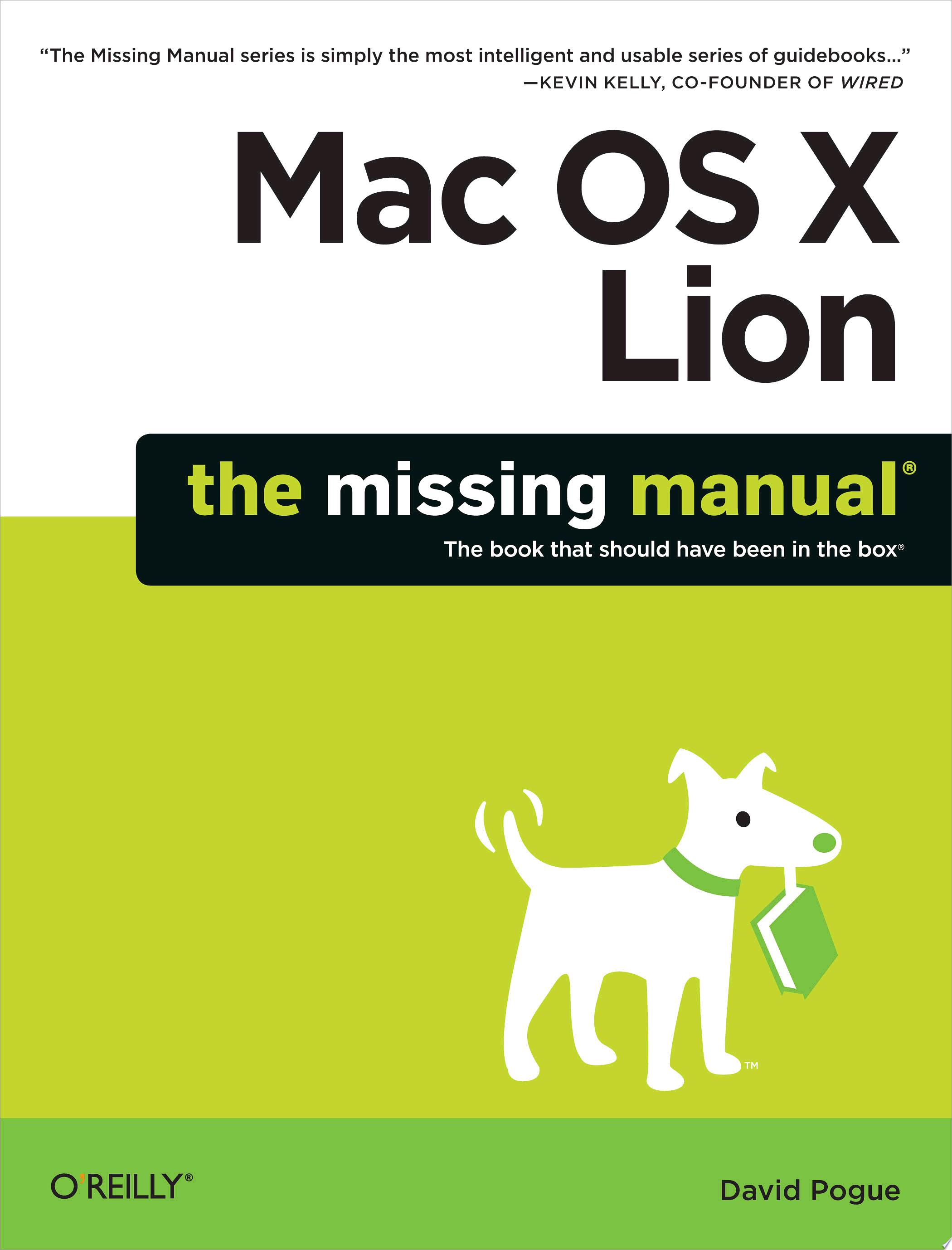 Mac OS X Lion  The Missing Manual