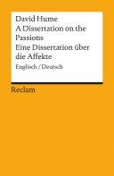A Dissertation on the Passions / Eine Dissertation über die Affekte Pdf/ePub eBook