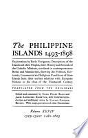 The Philippine Islands  1493 1898