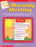 Quick Tips  Morning Meeting