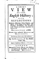 A short view of the english history