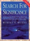Search for Significance Book