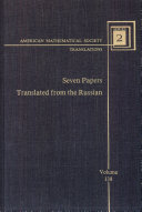 Pdf Seven papers translated from the Russian